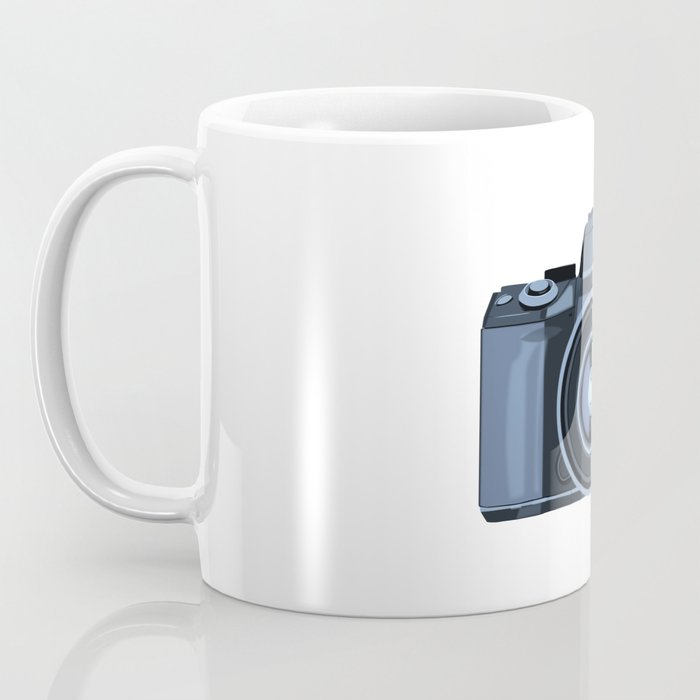 Blue Camera Graphic Coffee Mug