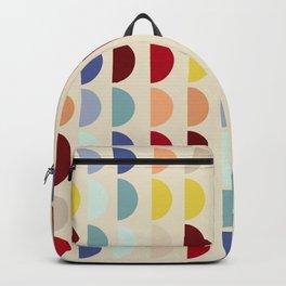 Semi circles multicolor geometric interior design Backpack