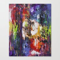 fringe Canvas Prints featuring fringe by Glint & Lime Art