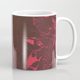 Grey Marble and Coral Coffee Mug