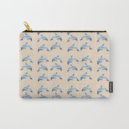 pattern dolphins Carry-All Pouch