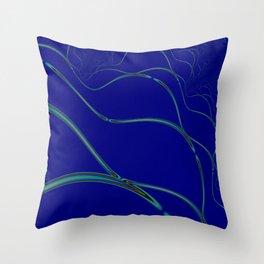 BLUE GRID 2E Throw Pillow