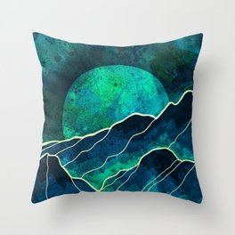 As a new moon rises Throw Pillow
