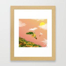Dandelion Adventure Framed Art Print