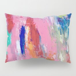 Lucky #13, a contemporary abstract in pinks and fuchsias Pillow Sham