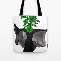 stevie nicks Tote Bags featuring Stevia Nicks by Pattavina