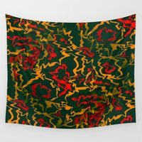 rasta Wall Tapestries featuring Rasta Time... by Cherie DeBevoise