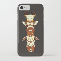 totem iPhone & iPod Cases featuring Totem by Freeminds