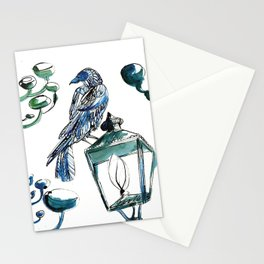 Blue crow Stationery Cards