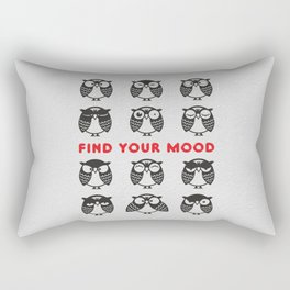 Owls. Find your mood. Rectangular Pillow