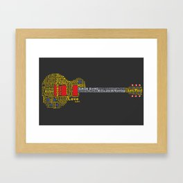 Gibson Type Framed Art Print