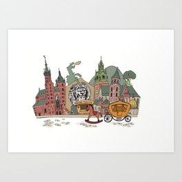 Old Europe. Krakow Art Print