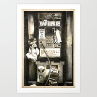the wire Art Prints featuring THE WIRE  by Messypandas