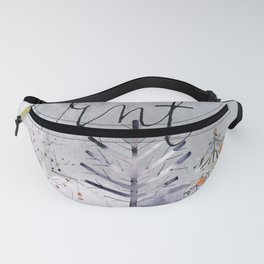 Winter Watercolor: Winter Trees Fanny Pack