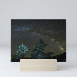 Milkyway at the mountains II Mini Art Print