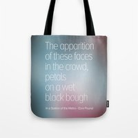 poetry Tote Bags featuring Poetry by Rafael CA