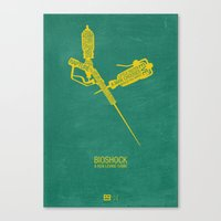 bioshock Canvas Prints featuring Bioshock Typography by Kody Christian