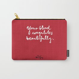 Blood-red Carry-All Pouch