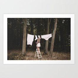 Hang me out Art Print