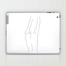 Minimal line drawing of woman's back - Ava Laptop & iPad Skin