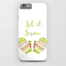 Knitted Christmassy Mittens iPhone Case