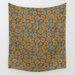 golden brown poof floral Wall Tapestry