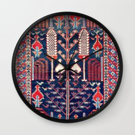 Luri Bakhtiari West Central Persian Rug Print Wall Clock