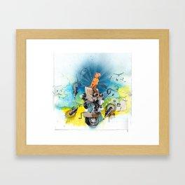 MINGA x Pop Lock it Polka Framed Art Print