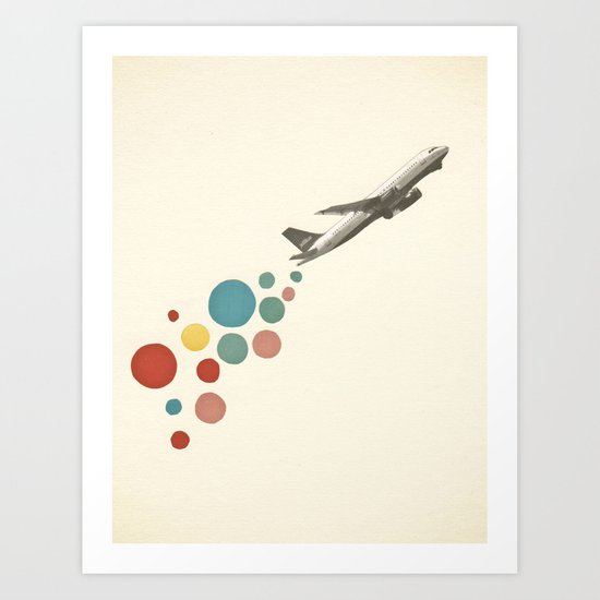 Leaving on a Jet Plane Art Print