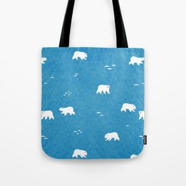 Polar Bears Pattern Tote Bag