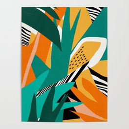 Jungle Abstract Poster