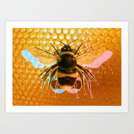3-Bees Art Print