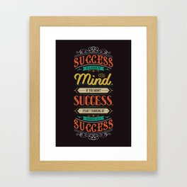Lab No. 4 Success Is Joyce Brothers Life Inspirational Quote Framed Art Print