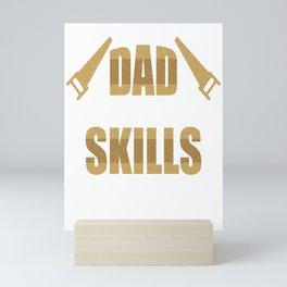 Woodworker Funny Woodworking Dad Skills Gift Mini Art Print