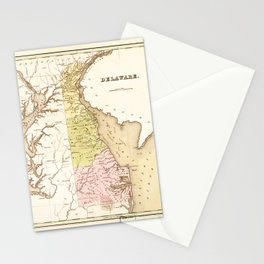Map of Delaware (1838) Stationery Cards