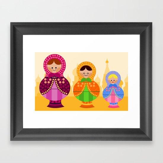 Matrioskas 2 (Russian dolls 2) Framed Art Print