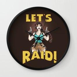 Let's Raid! Wall Clock