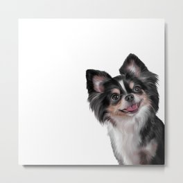 Drawing dog Chihuahua Metal Print