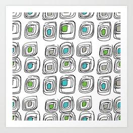 Retro Echosquares Art Print