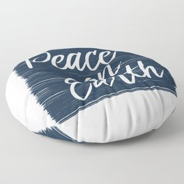 Peace On Earth Floor Pillow