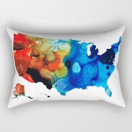 United States of America Map 4 - Colorful USA Rectangular Pillow