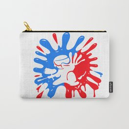 Paintball Splatter Red & Blue with Mascot Carry-All Pouch