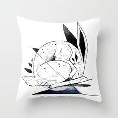 RABBIT INKTOBER Throw Pillow
