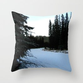 Wintertime in WaterValley Throw Pillow