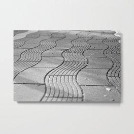 Wavy pavement Metal Print