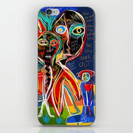 When the mothers talk street art graffiti iPhone Skin