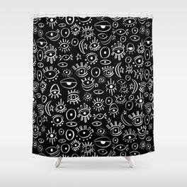 Evil Eye at Midnight  Shower Curtain