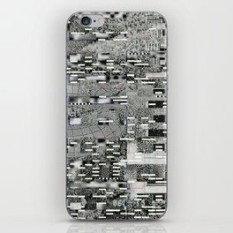 Highly Resolved Ghost (P/D3 Glitch Collage Studies) iPhone Skin