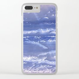 Blue watercolor Clear iPhone Case