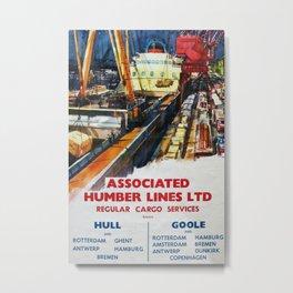 Humber Lines Vintage Travel Poster Metal Print